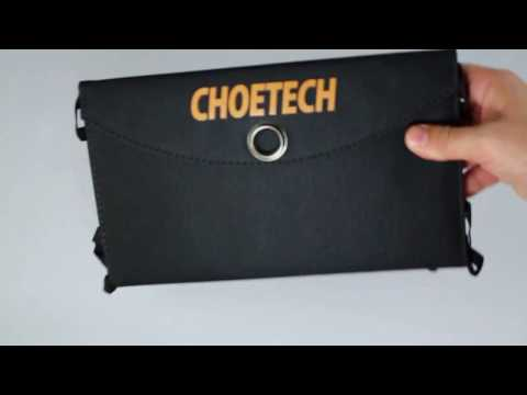 Review: Solar Charger CHOE 19W 2-Port Solar Phone Charger