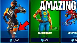 the BIZ SKIN IS AMAZING... (FORTNITE ITEM SHOP JUNE 23RD)