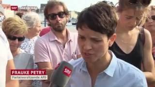 """Wie in der SCHWEIZER """"Tagesschau"""" über den AfD-Wahlkampf in M-V berichtet wird !!"""