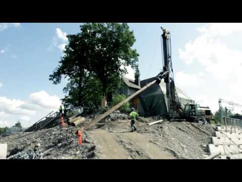 Robit Pipe Pile Wall drilling