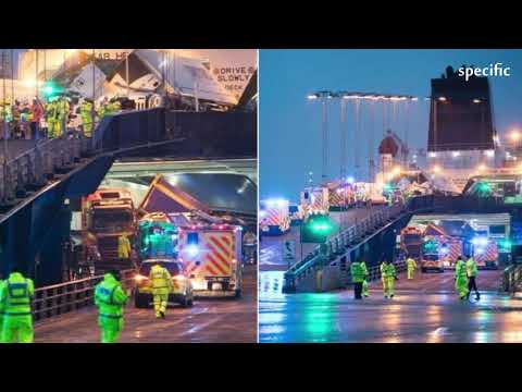 United Kingdom News Today  |  'Major Incident' As Lorries Topple On Larne To Cairnryan Ferry