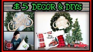 Farmhouse Christmas DIY & Dollar Store Christmas Decorations 2018