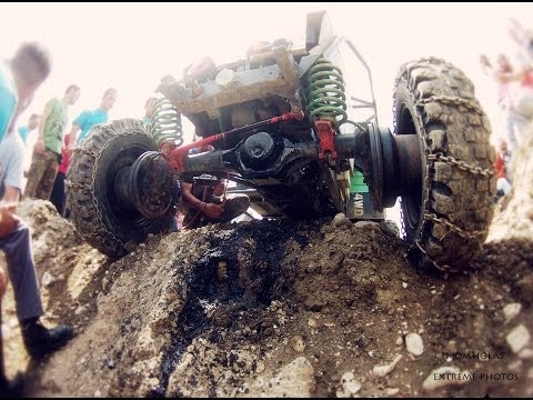 off road  eXtreme Modified Unimog broken oil carter