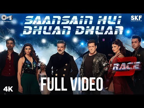 Saansain Hui Dhuan Dhuan Official Full Song Video - Race 3 | Salman Khan, Jacqueline, Anil, Bobby