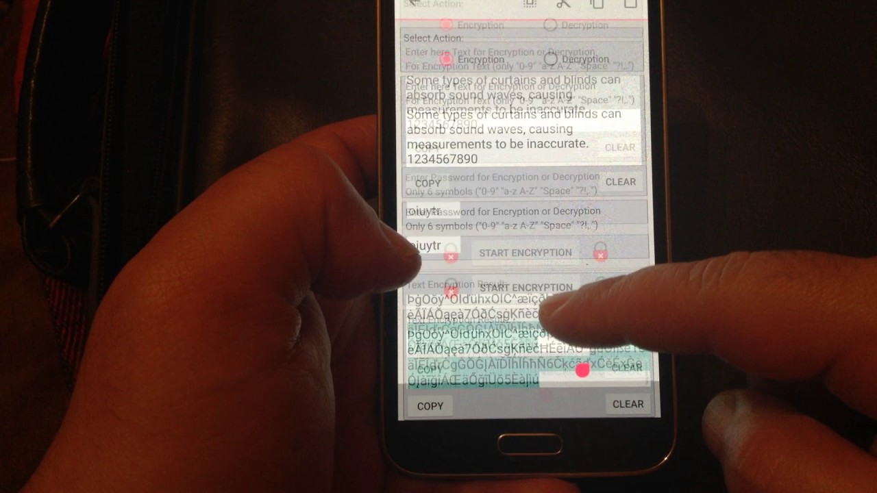 Text Encryption/Decryption 3 - Android Application