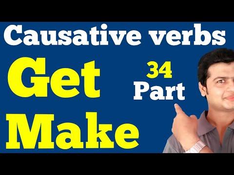CAUSATIVE VERBS & SENTENCES    (GET & MAKE) in English Grammar   Concept & Examples in Hindi