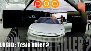 Lucid Air, nouvelle voiture électrique rivale de la Tesla Model S