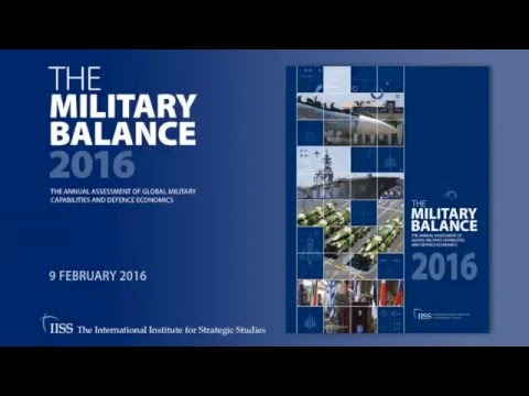 IISS Webinar: The Military Balance 2016: Key findings and interactive discussion