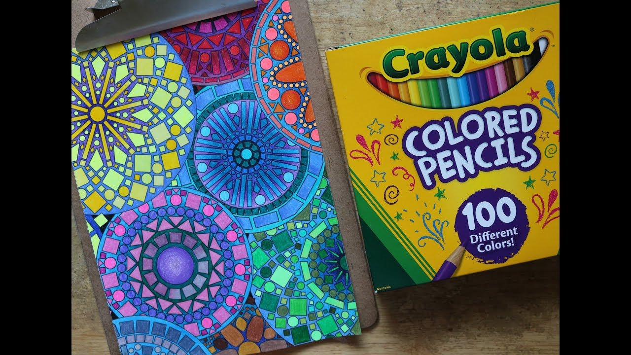 kaleidoscope wonders color art speed color with crayola colored pencils  100 count