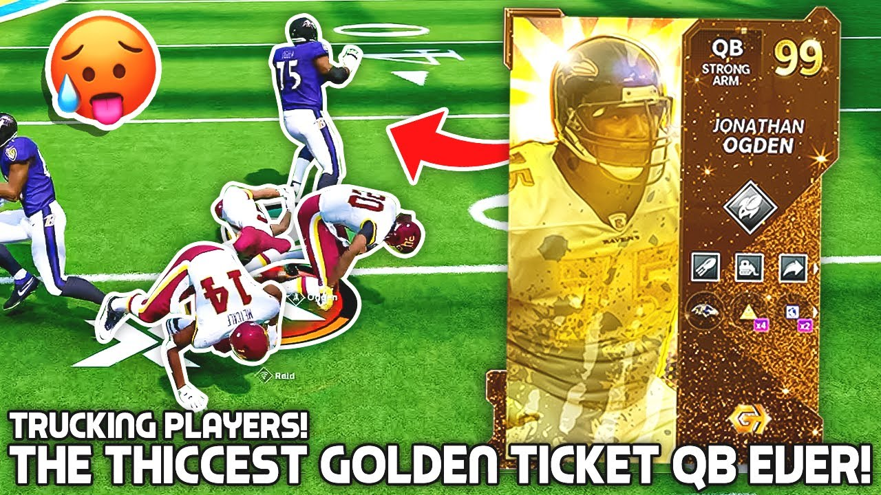 The THICCEST GOLDEN TICKET QB EVER.. Biggest Player In Madden! Madden 21