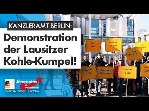 Demonstration der Kohlekumpel vor dem Kanzleramt Berlin!
