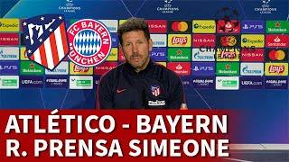 ATLÉTICO vs BAYERN | SIMEONE, rueda prensa CHAMPIONS: SUÁREZ, LEWANDOWSKI... | DIARIO AS