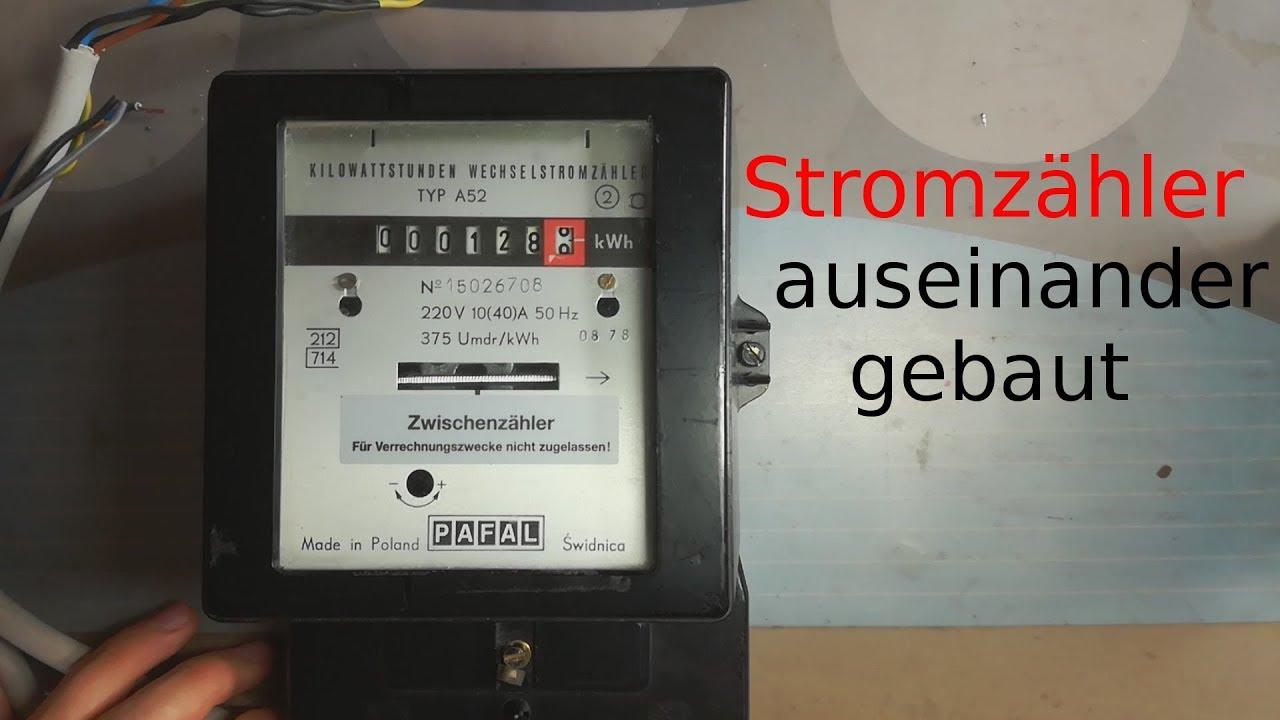 Hervorragend Wie funktioniert ein Stromzähler? - YouTube XM63