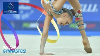 Gambar cover 2017 Rhythmic Worlds, Pesaro (ITA) - Clubs+Ribbon Finals, Highlights - We Are Gymnastics !