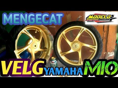 Cat Velg Mio Sporty Warna Gold Belajar Cat Velg Cat Velg Motor