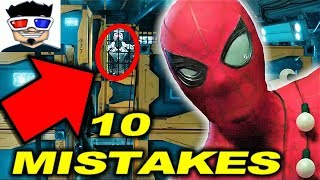 10 SPIDERMAN HOMECOMING (2017) MISTAKES 🕷