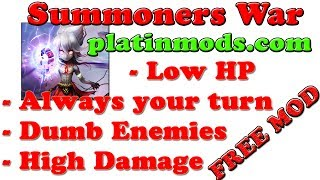 FREE! Summoners War MOD APK For High Damage + Dumb Enemies + AlwaysTurn + Low HP