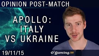 Apollo gives his opinion on the Ukraine/Italy matches