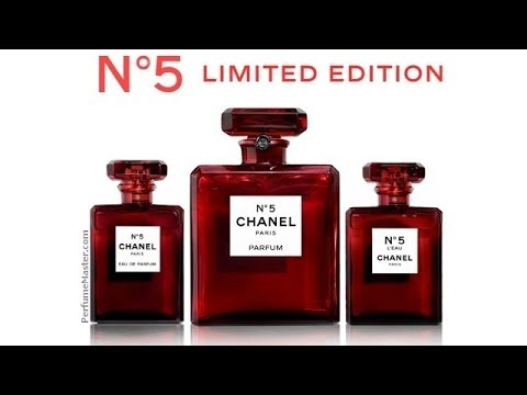 Chanel No 5 Limited Edition Red Bottles Youtube