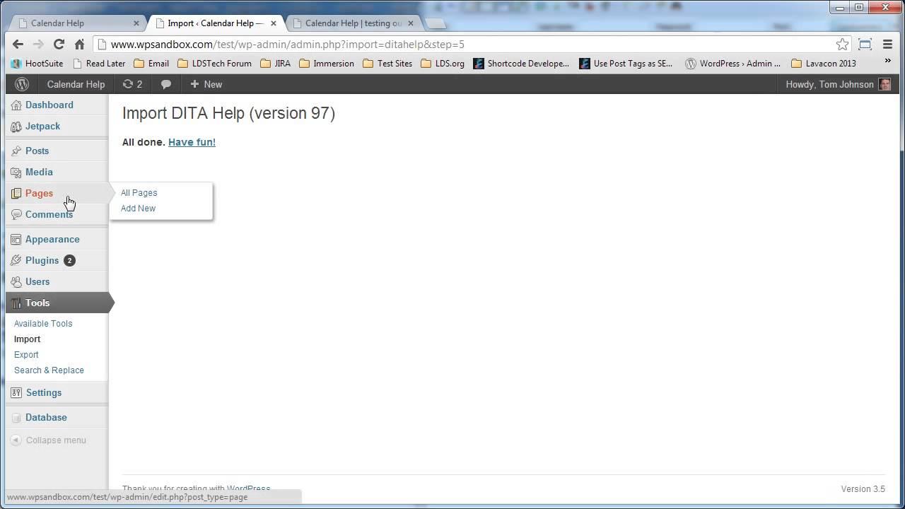 Import DITA Webhelp Output into WordPress | I'd Rather Be Writing