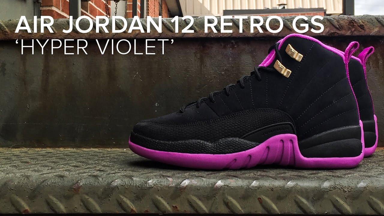 watch cd1ef 06076 Air Jordan 12 Retro GS 'Hyper Violet' Detailed Look