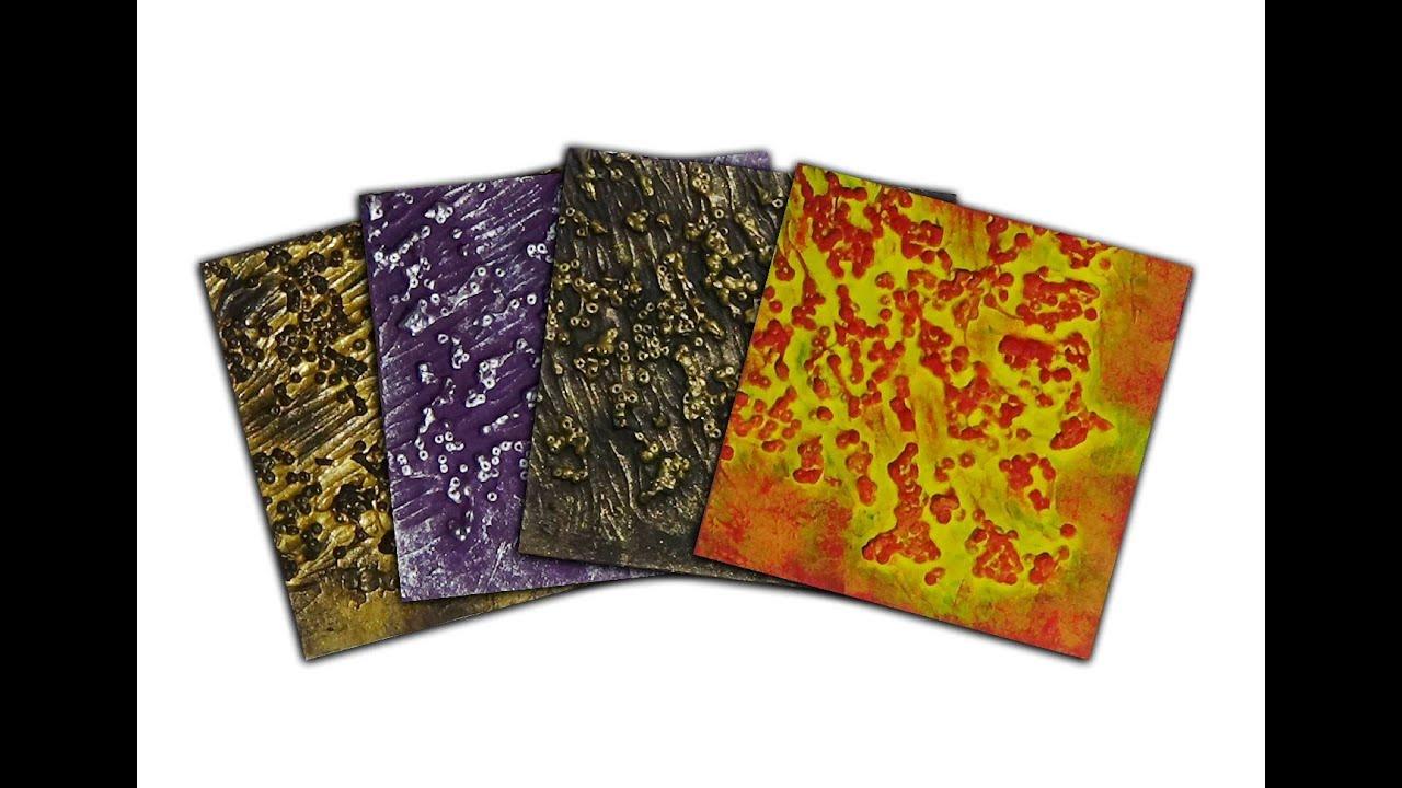Art Texture Samples Gel Medium Seed Beads YouTube