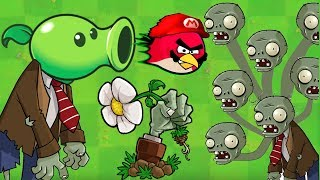 Angry Birds vs Zombies Ultimate War - PEASHOOTER SHOOTING ANGRY BIRDS EXPLOSIVE POWER