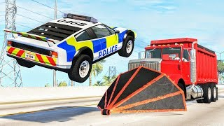 Crazy Police Chases #100 - BeamNG Drive Crashes