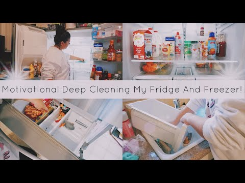 Deep Cleaning My Fridge & Freezer II Cleaning Motivation II It Was Disgusting! 🤢