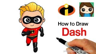 How to Draw Dash Easy | The Incredibles