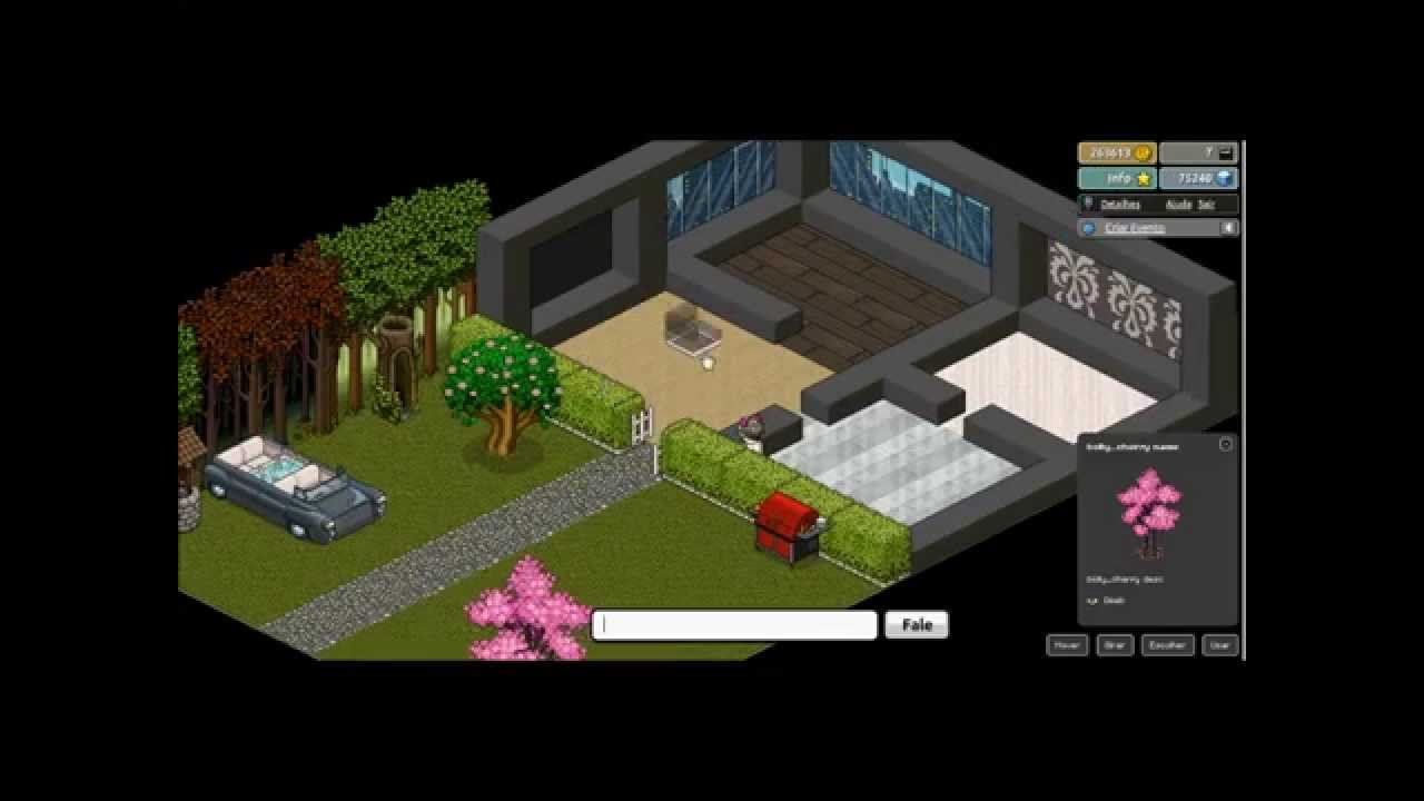 Habbo sobrado moderno youtube for Casa moderna habbo