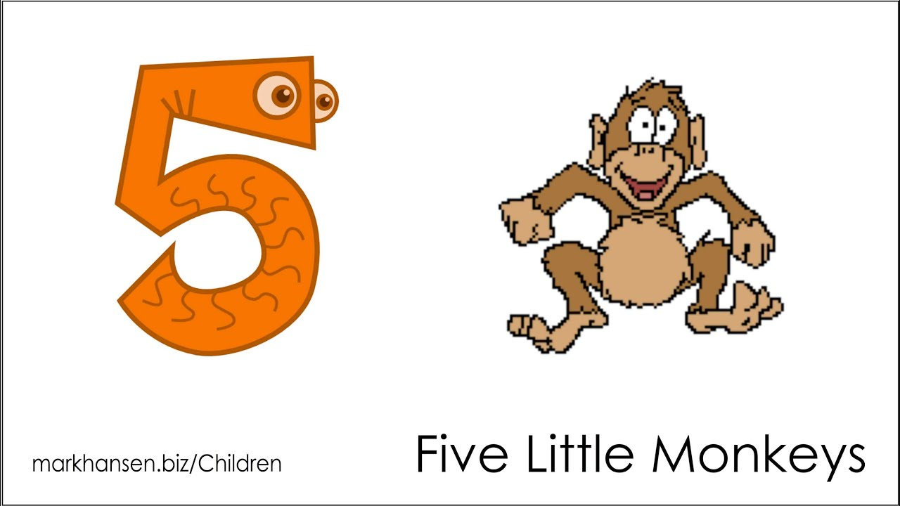 Counting Songs For Children 1 To 5 Numbers Kids Kindergarten Toddlers Five Little Monkeys Song