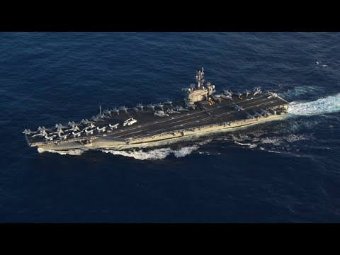 USS America and USS Carl Vinson Conduct A Passing Exercise