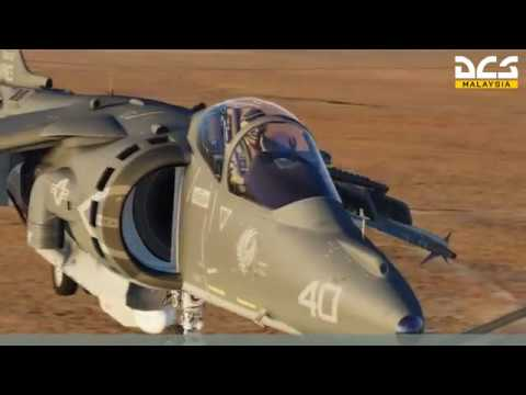 DCS Harrier Vertical Landing Trials - External View