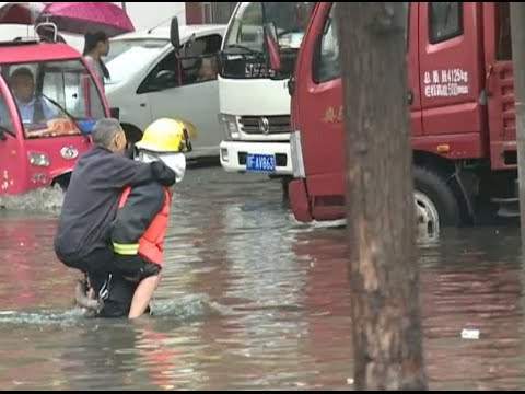 Torrential Rain Creates Severe Flooding in China's Hubei Province