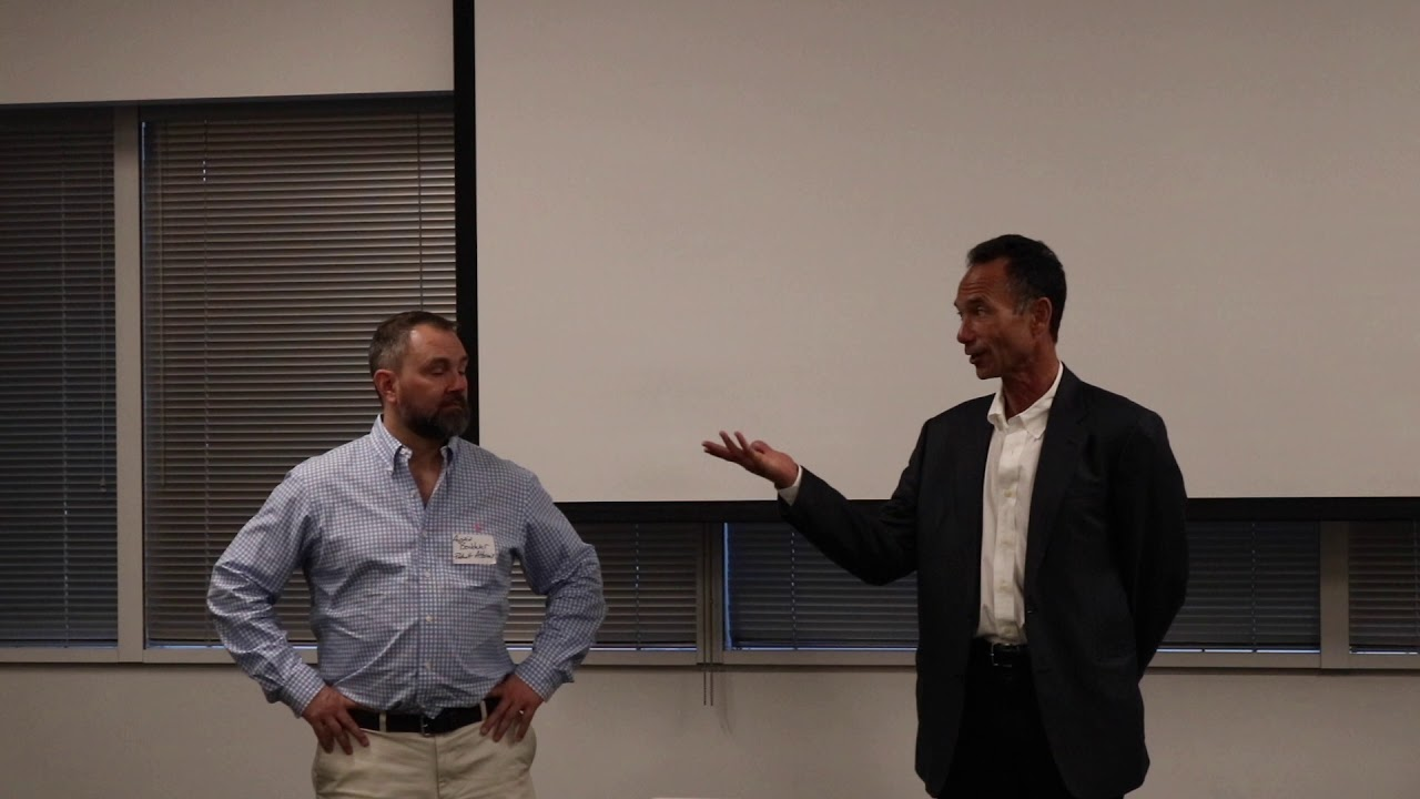 Austin Bonderer and Rand Brenner Answer Questions at Med Tech Council Event