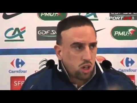 Ribery se tape la honte en Interview ! guignol