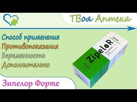Зипелор Форте спрей (бензидамина гидрохлорид) показания, описание, отзывы