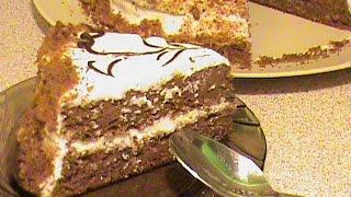 Шоколадно-ореховый торт.  Диета Дюкана