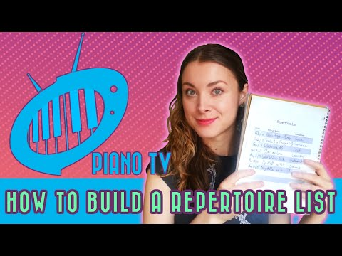 Build Your Own (Memorized) Piano Music Portfolio