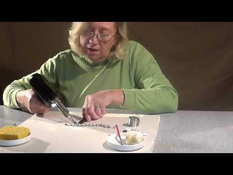 Soldering Jewelry with a Solder gun - Low tech Inexpensive Jewelry Making
