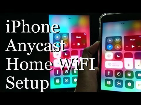 Anycast M9 Plus iPhone Home WiFI Setup AirPlay Screen Mirroring To TV  Screen Pt  2