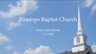 January 3, 2021 Pastor Larry Boone - Jesus Washes the Disciples Feet