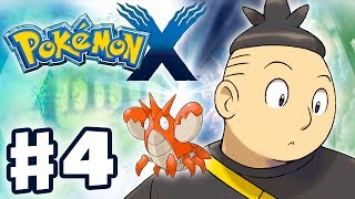 Pokemon X and Y - Gameplay Walkthrough Part 4 - Tierno and Corphish Battle (Nintendo 3DS)