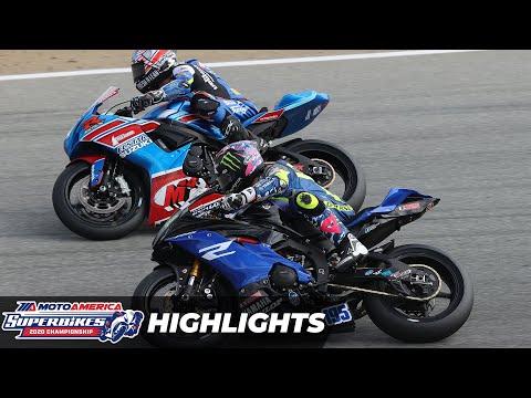 MotoAmerica Supersport Race 1 Highlights at Laguna Seca 2020