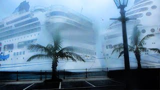 NCL cruise ship breaks free and hits a Royal Carribean cruise ship