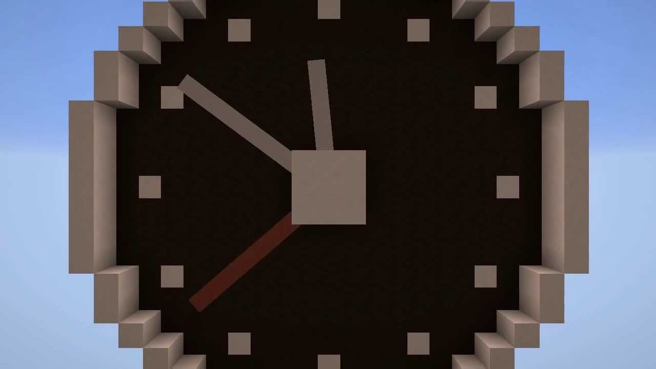 Real Time Analogue Clock With Rotating Hands Minecraft 14w06b
