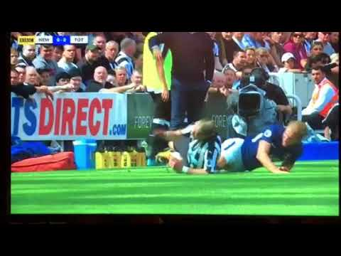 Harry Kane Horror Challenge On Florian Lejeune Newcastle 0 Spurs 2 13th August 2017