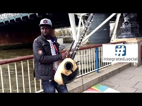 Street performers Kora African musical instruments from Gambia