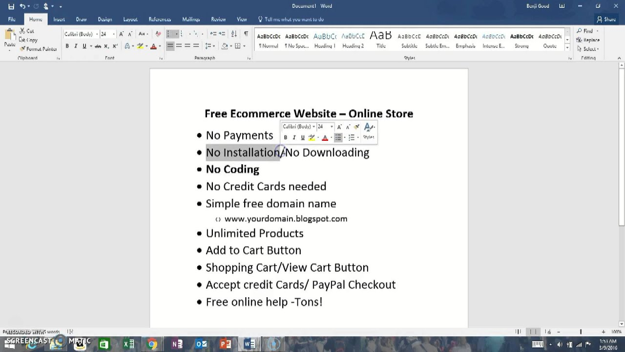 No Name Online Shop Free Ecommerce Website No Credit Card No Coding Needed Use Shopping Cartintro
